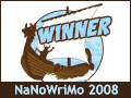 NaNoWriMo winner 2008